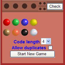 Board online mastermind game Get Mastermind